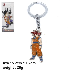 Dragon Ball Z Goku Cosplay Cartoon Pendant Anime Alloy Keychain