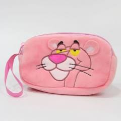 Pink Panther Cosplay Coin Wallet Anime Plush Cosmetic Bag