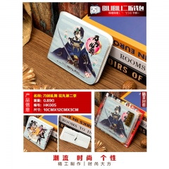 Touken Ranbu Online Cosplay Cartoon Purse Anime Folding Short Wallet