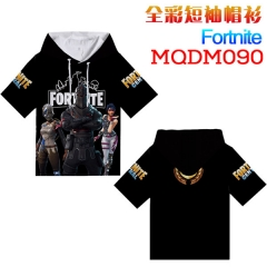 Fortnite Game Cosplay Print Anime Short Sleeves Hooded T Shirts