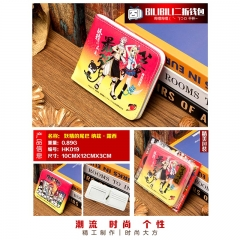 Fairy Tail Lucy&Natsu Cosplay Cartoon Purse Anime Folding Short Wallet