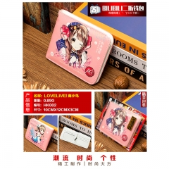 LoveLive Kotori Minami Cosplay Cartoon Purse Anime Folding Short Wallet