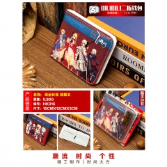 Fate Stay Night Saber Cosplay Cartoon Purse Anime Folding Short Wallet