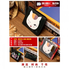 Natsume Yuujinchou Cosplay Cartoon Purse Anime Folding Short Wallet
