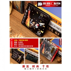 Overwatch Tracer Cosplay Cartoon Purse Anime Folding Short Wallet