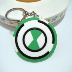 Ben 10 Cartoon Double Sided Anime Soft PVC Keychain Kawaii Pendant