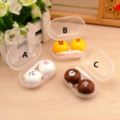 3 Designs Line Town Cute Cartoon Anime Contact Lens Box Wholesale