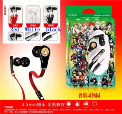 3 Colors Kemono Friends Project Cartoon 3.5mm Anime Headphone for Mobile Phone