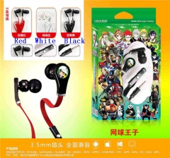 3 Colors The Prince of Tennis Cartoon 3.5mm Anime Headphone for Mobile Phone