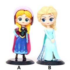 2 Designs Disney Frozen Cartoon Collection Toys Statue Qposket Anime PVC Figure 15cm