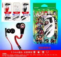 3 Colors Onmyouji Cartoon 3.5mm Anime Headphone for Mobile Phone
