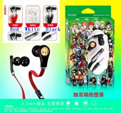 3 Colors Gabriel DropOut Cartoon 3.5mm Anime Headphone for Mobile Phone