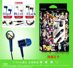 3 Colors The Prince of Tennis Cartoon Headset 3.5mm Anime Headphone