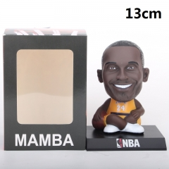 NBA Star Kobe Bryant Cartoon Collection Toys Statue Anime PVC Figure 13cm