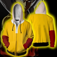 One Punch Man 3D Cosplay Cartoon Hooded Fashion Long Sleeve Men Hoodie