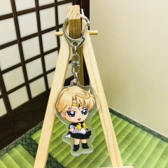 Pretty Soldier Sailor Moon Cosplay Cartoon Two Sides Pendant Good Quality Acrylic Anime Keychain