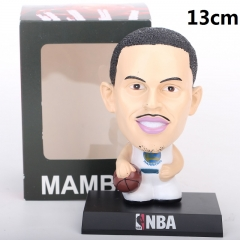 NBA Star Stephen Curry Cartoon Collection Toys Statue Anime PVC Figure 13cm