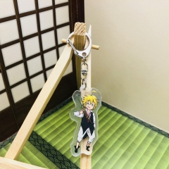 The Seven Deadly Sins Cosplay Cartoon Two Sides Pendant Good Quality Acrylic Anime Keychain