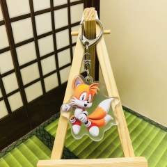 Sonic Cosplay Game Two Sides Pendant Good Quality Acrylic Anime Keychain