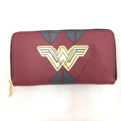 Wonder Woman Cosplay Wallets PU Leather Zipper Coin Purse Anime Wallet