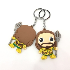 Justice League Aquaman Character Cute Keychain Soft PVC Key Chains