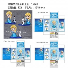 Disney Frozen Elsa + Snowman Collection Toys Statue Anime PVC Figure Set 5-9cm