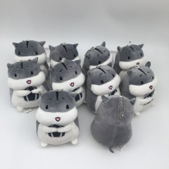 Hamtaro / Trotting Hamtaro Cosplay Cartoon Cute For Kids Gift Doll Anime Plush Toy Pendant (10pcs/set)