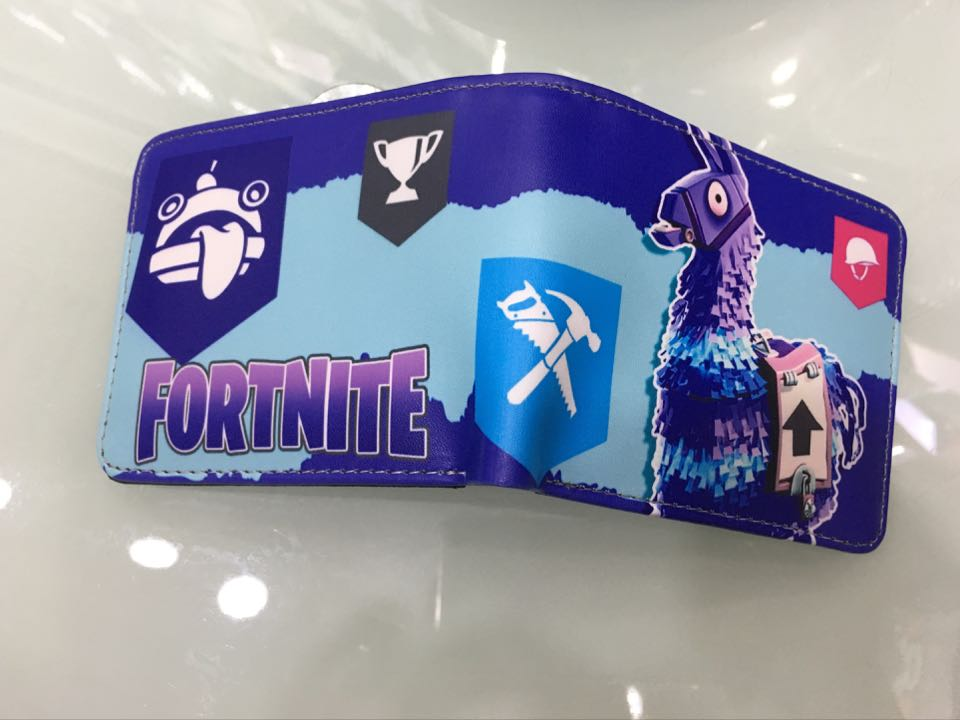 Fortnite Cosplay Game PU Anime Short Wallet Coin Purse