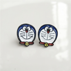 Japan Doraemon Cute Alloy Earring Cartoon Fancy Earring
