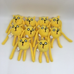 Adventure Time Jake Cosplay Cartoon Cute For Kids Gift Doll Anime Plush Toy Pendant (10pcs/set)