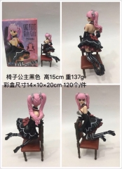 One Piece Cartoon Model Toys Statue Japanese Anime Black Dress Girly Girls Perhona Style PVC Figure 15cm