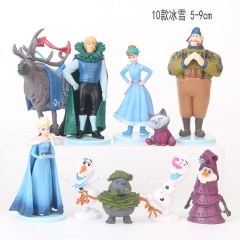 Disney Frozen Cute Cartoon Collection Toys Statue Anime PVC Figures 10pcs/set