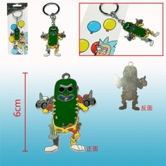 Rick and Morty Cosplay Cartoon Two Sides Cute Pendant Anime Keychain