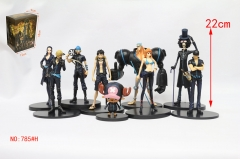 9Designs One Piece Black Clothes Cartoon Model Toys Statue Anime PVC Figures Set (785#H)