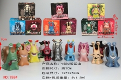 9Designs One Piece Q Version Den Den Mushi Cartoon Model Toys Statue Anime PVC Figures Set 7cm (788#H)