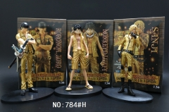 One Piece 3Designs Luffy Sanji Zero Cartoon Model Toys Statue Anime PVC Figures Set (784#H)