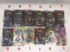 Marvel The Avengers Movie Different Designs Can Choose Cute Groot Keyring Anime Plastic Figure Keychain