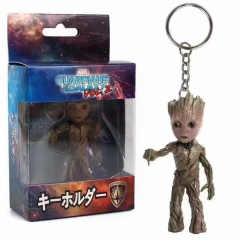 Guardians of the Galaxy Cute Groot Keyring Anime Plastic Figure Keychain