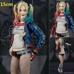 SHF Suicide Squad Harley Quinn Cartoon Model Toy Statue Collection Anime PVC Figures 15cm