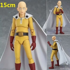One Punch Man Saitama Figma Cartoon Model Toy Statue Collection Anime PVC Figures 15cm