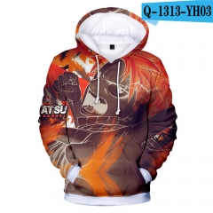 2018 New Colorful Fairy Tail Hoodies Loose 3D Long Sleeves Hooded
