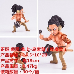 One Piece Tattoo Usopp Cartoon Model Toy Statue Anime PVC Action Figures 18cm