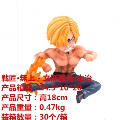 One Piece Vinsmoke Sanji Cartoon Model Toy Statue Anime PVC Action Figures 18cm