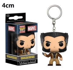 Funko POP Wolverine X-Men PVC Model Toys Key Ring Anime Cartoon Figures Pendant Keychain 4cm