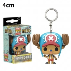 Funko POP One Piece Chopper PVC Model Toys Key Ring Anime Cartoon Figures Pendant Keychain 4cm