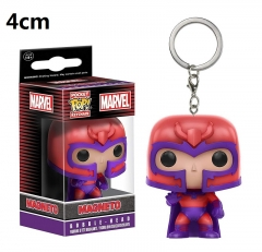 Funko POP X-Men Magneto PVC Model Toys Key Ring Anime Cartoon Figures Pendant Keychain 4cm
