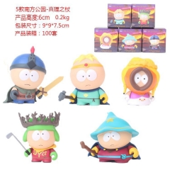 5pcs/set South Park Cute Cartoon Collection Toys Statue Anime PVC Figures with Box 6cm