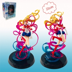Pretty Soldier Sailor Moon Cartoon Model Toy Statue Anime PVC Action Figures 20cm