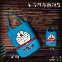 Doraemon Cartoon Kawaii Shopping Bag Canvas Single Shoulder Bags