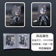 2pcs/set Batman Cartoon Model Toy Statue Q-version Anime PVC Action Figures